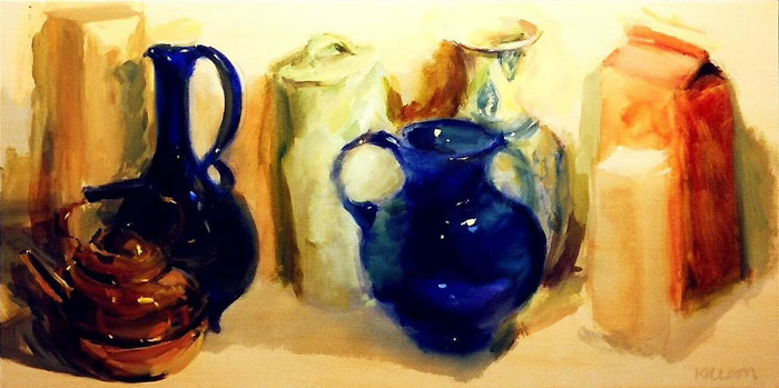 Still Life with Blue Glass